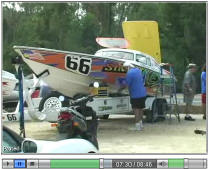 Photo from the Dry Pit for the 2006 Thunder on the Gulf offshores race held at the Wharf in Orange Beach Alabama.